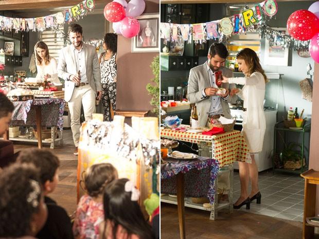 Larissa ganha festa de aniversário (Foto: Renato Rocha Miranda/Globo)