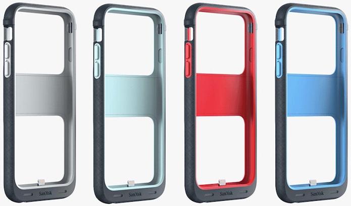 Capa está disponível em quatro cores e em versões de 32, 64 e 128 GB (Foto: Divulgação/SanDisk)