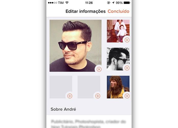 Envie ou delete suas fotos (Foto: Reprodução/André Sugai)