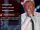 Rod Stewart ganha colinho em apresentação no Rock in Rio