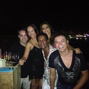 Carla Cristina, Ivete Sangalo, Luis Miranda e David Brazil em festa em Salvador, na Bahia (Foto: Instagram/ Reprodução)