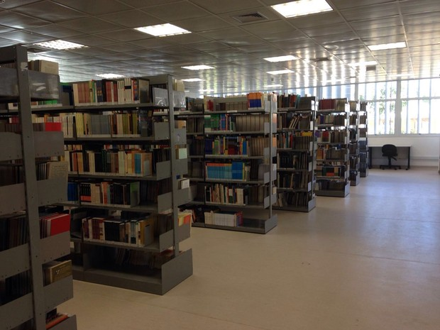 Biblioteca do campus Guarulhos. (Foto: Vanessa Fajardo/G1)