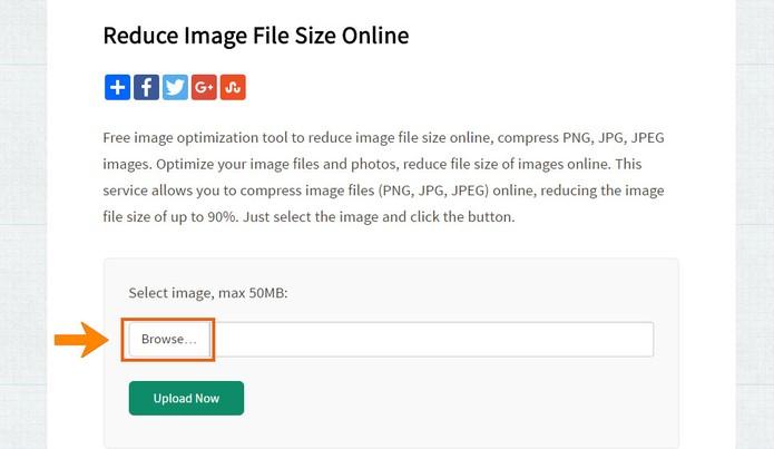 Acesse o site para reduzir o tamanho da foto pelo PC (Foto: Reprodução/Barbara Mannara)