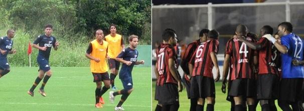 Jogadores do Flamengo e do Atlético-PR se preparam para jogo de sábado (Foto: Reprodução: Globoesporte.com)