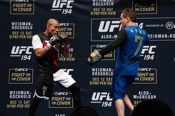 José Aldo, Treino aberto, UFC 194 (Foto: Evelyn Rodrigues)