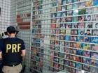 Mais de 20 mil CDs e DVDs 'piratas' são apreendidos em operação da PRF