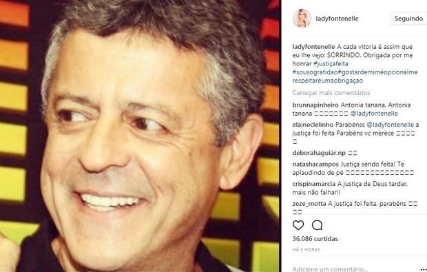 Antônia Fontenelle fez um post comemorando sua vitória na justiça (Foto: Reprodução/Instagram)