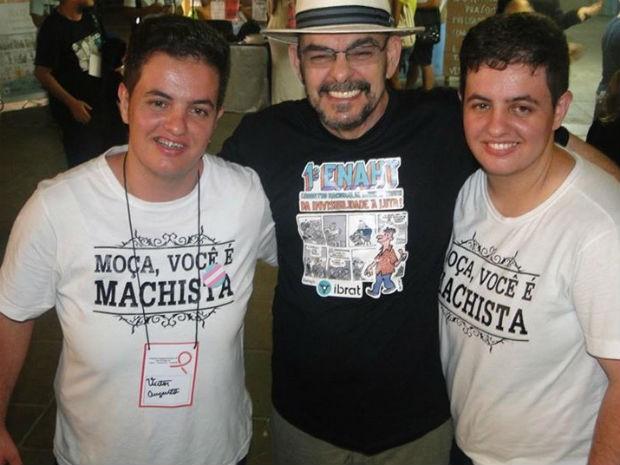 Victor, João Nery (o primeiro trans operado no Brasil) e Erick (Foto: Arquivo Pessoal)
