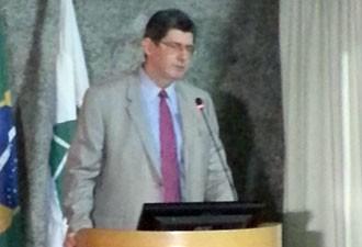 Ministro da Fazenda, Joaquim Levy, participa de congresso em Brasília (Foto: Alexandre Martello/G1)