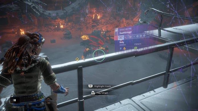 Horizon: Zero Down: como derrotar o robô gigante Deathbringer (Foto: Reprodução/Murilo Molina)