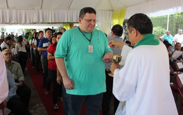 Funcionário de outras empresas pertencentes à Rede Amazônica também participam (Foto: Katiúscia Monteiro/ Rede Amazônica)