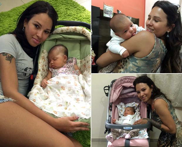 Ariada curte a sobrinha recém-nascida (Foto: Arquivo pessoal)