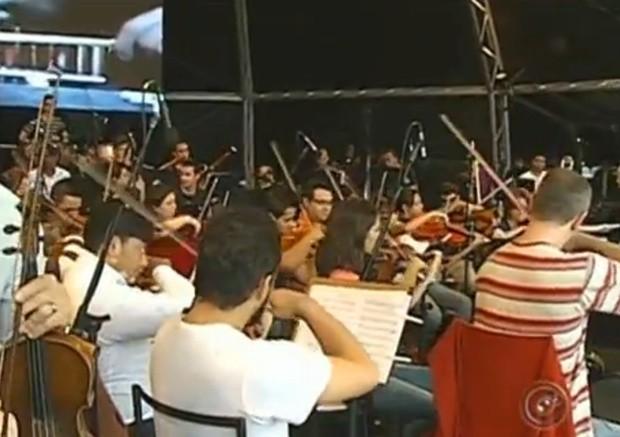 Orquestra Bachiana é uma das atrações na noite festiva de 10 anos da TV TEM (Foto: Reprodução/ Tv Tem)