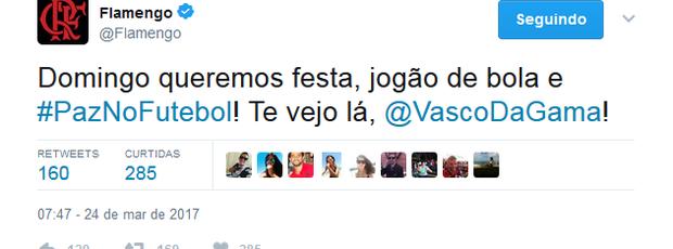 Twitter Flamengo x Vasco