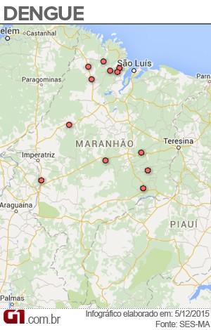 Cidades com maior incidência de dengue no Maranhão (Foto: Maurício Araya / G1)