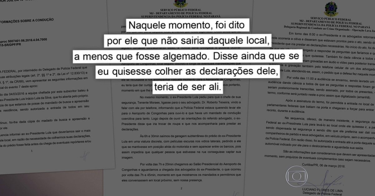 Lula disse que só sairia de casa algemado, diz delegado da PF