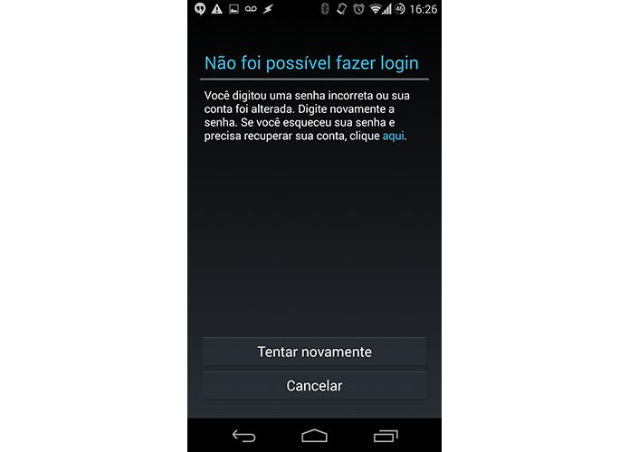 Altere a senha quando o Android acusar a mudança (Foto: Reprodução/Paulo Alves)