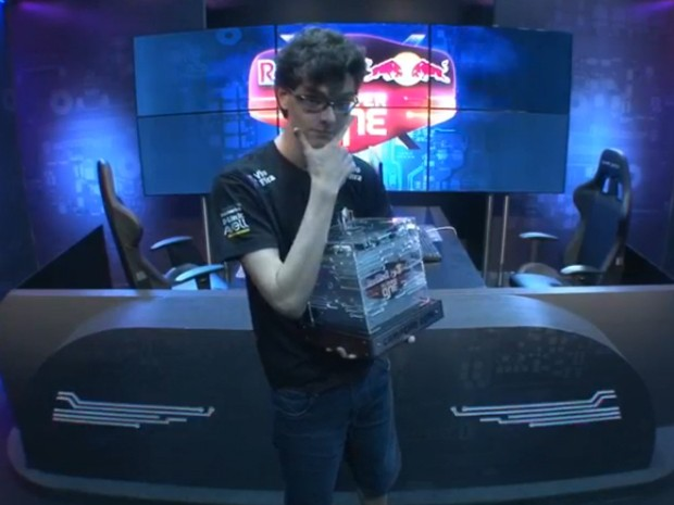 'Mylon', da equipe Keyd Stars, venceu o torneio Red Bull Player One (Foto: Reprodução/x5tv)