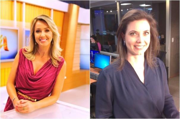Carla Fachim e Simone Lazzari (Foto: Monatem sobre fotos/Divulgação RBS TV)
