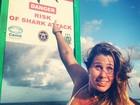 Em Recife, Andréia Sorvetão brinca: 'Será que o tubarão gosta de sorvete?'