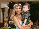 Luisa Mell faz festa para comemorar o 1 ano do filho Enzo