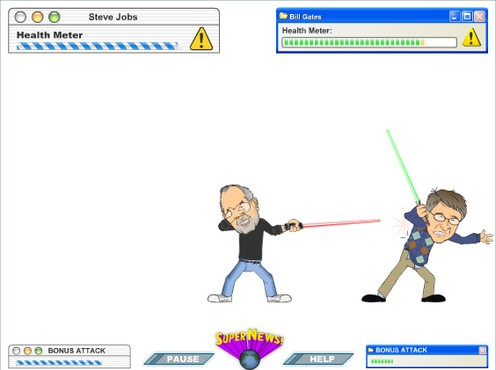 screenshot de Gates vs Jobs