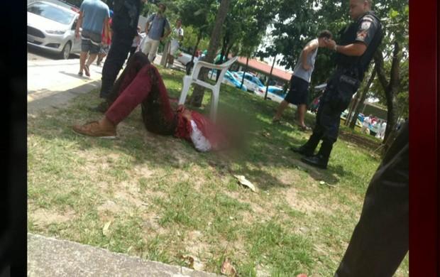 tiroteio na  zona sul do Rio (reprodução GloboNews)