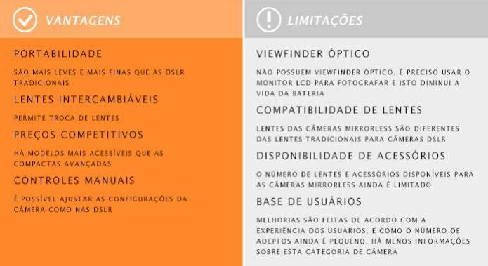 As câmeras mirrorless possuem dimensões reduzidas em relação às DSLR e permitem troca de lentes (Foto: Adriano Hamaguchi/TechTudo) (Foto: As câmeras mirrorless possuem dimensões reduzidas em relação às DSLR e permitem troca de lentes (Foto: Adriano Hamaguchi/TechTudo))