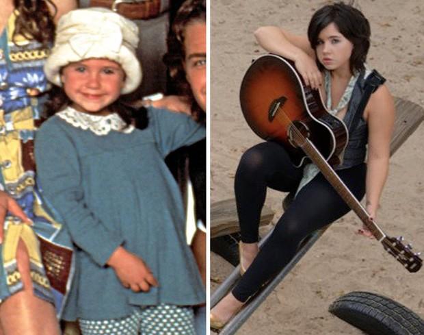 A pequena Courtney Chase roubava a cena como Kennedy, a filhinha de Carol, madrasta de Blossom (Foto: Reprodução)
