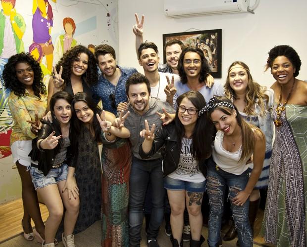 Participantes reunidos making of (Foto: Fabiano Battaglin/TV Globo)