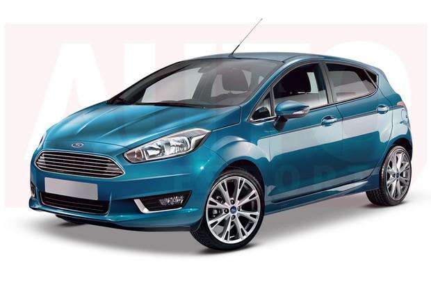 Projeção: nova geração do Ford Fiesta (Foto: Renato Aspromonte)