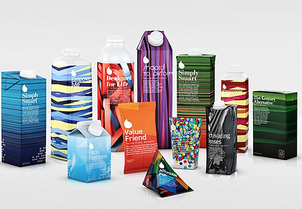 Portfolio de embalagens da TetraPak (Foto: Divulgação)