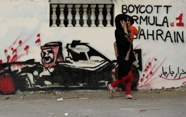Protesto Barhein (Foto: AP)