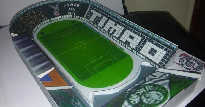 Mini estádios maquete Pacaembu corinthians e Palmeiras (Foto: Reprodução)