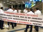 Protesto de aeronautas e aeroviários atrasa voos em todo Brasil