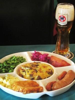 Menu degustação do restaurante Braun Braun, tipicamente alemão (Foto: Divulgação)