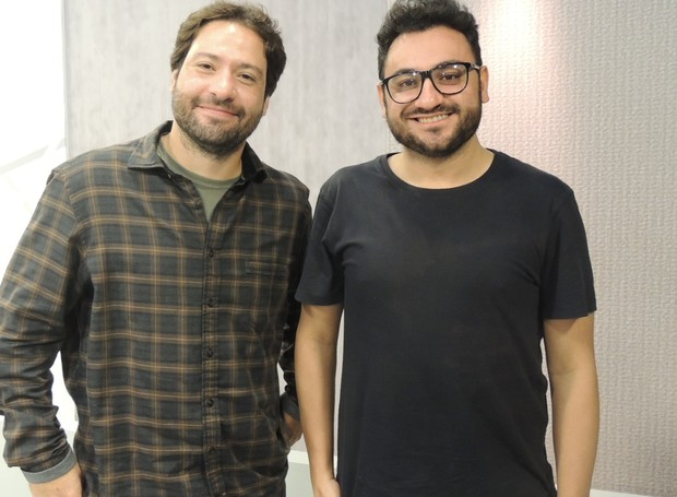 Vitor Oliveira e Diego Madruga foram de SC para trabalhar na cobertura dos jogos (Foto: aléria Martins/RBS TV SC)