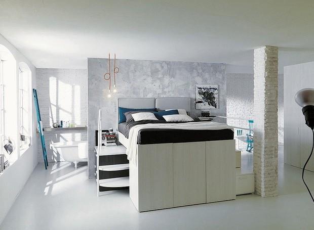 Closet embaixo da cama solu o para poucos metros casa for Letti a soppalco per adulti