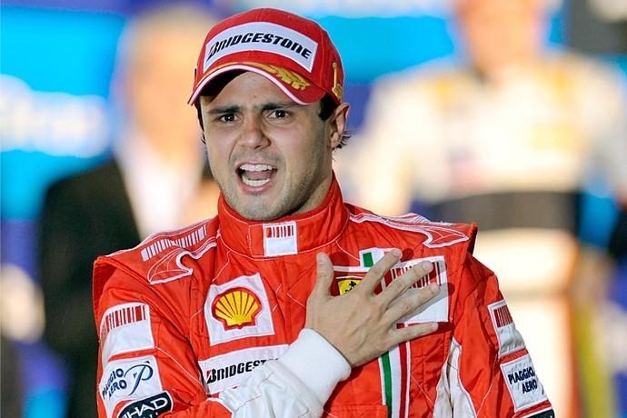 Felipe Massa no GP do Brasil de 2008 (Foto: Reprodução)