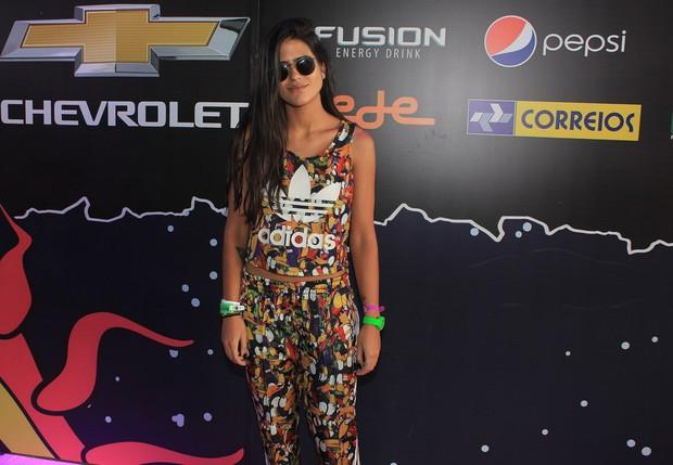Antonia Morais no festival Lollapalooza em SP (Foto: Celso Tavares / Ego)