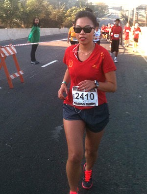 Lucia Emiko corrida Eu Atleta  (Foto: Patricia Palhares / Globoesporte.com)