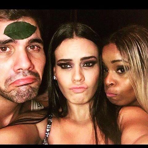 Juliano Cazarré, Letícia Lima e Roberta Rodrigues (Foto: Instagram / Reprodução)