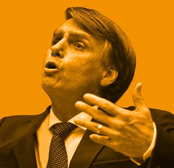 O deputado  Jair Bolsonaro, também candidato. Sua tática é chamar tudo  de fake news (Foto: Fábio Motta/Estadão Conteúdo)