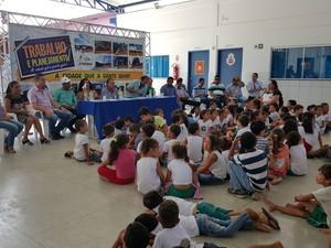 Centro Municipal de Educação Infantil Menino Jesus é reinaugurado em Ji-Paraná (Foto: Pâmela Fernandes/G1)
