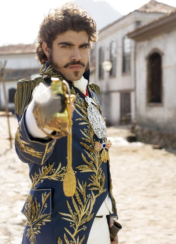 Caio Castro interpreta Dom Pedro em 'Novo Mundo' (Foto: Ellen Soares/ Gshow)