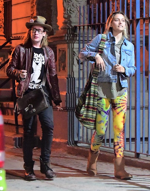 Paris Jackson curte noite de NY com Macaulay Culkin (Foto: The Grosby Group)