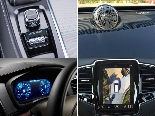Detalhes do interior do Volvo XC90 (Foto: Divulgação)