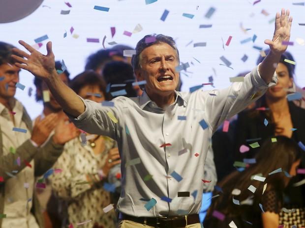 Candidato pelo Pro, Mauricio Macri, discursa (Foto: Agustin Marcarian/Reuters)