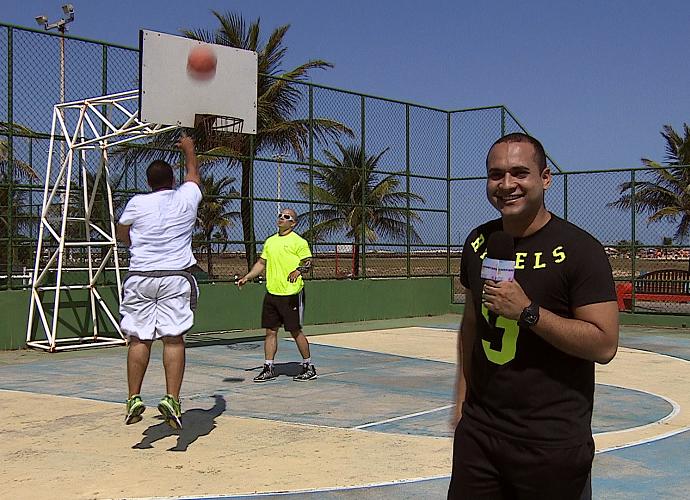 Me Transforme para o Verão treinando ao ar livre (Foto: Reprodução / TV Sergipe)