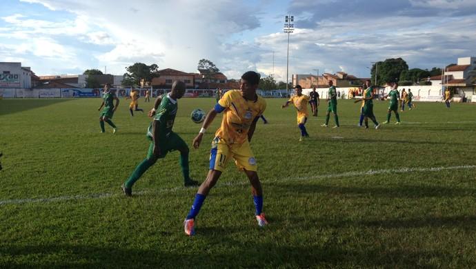 Ricardo Urubu foi decisivo para o Interporto na vitória contra o Gurupi (Foto: Vilma Nascimento/GloboEsporte.com)